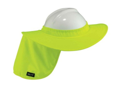 Chill-Its® Hard Hat Brim w/ Shade (lime)