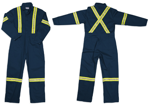 GRAND Hi-Viz Safety Cotton Work Coverall REGULAR INSEAM (2 Color Available)