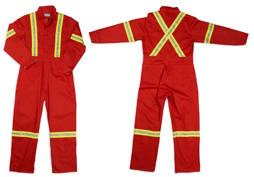 GRAND Hi-Viz Safety Cotton Work Coverall TALL INSEAM (2 Colors Available)