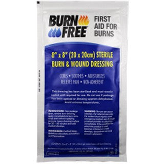 "BURN FREE Pain Relieving Gel (8"" X 8"")"