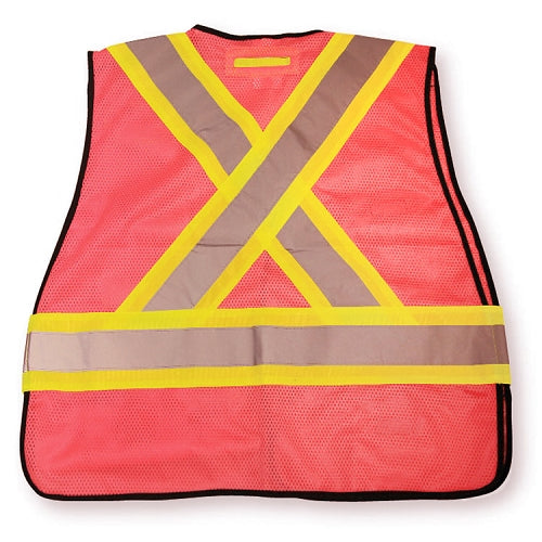BIG K Mesh Tear Away Hi Viz Safety Vest (PINK)