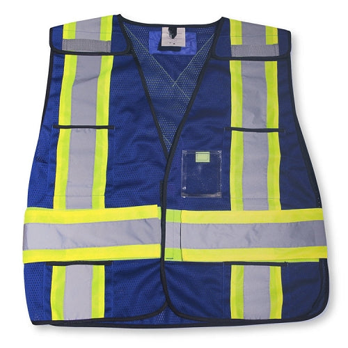 BIG K Mesh Tear Away Hi Viz Safety Vest (Blue)