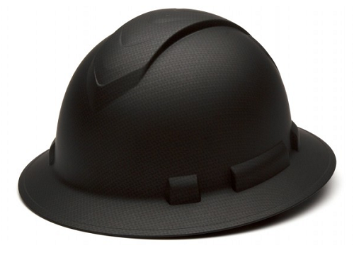 PYRAMEX Ridgeline Full Brim Hard Hat (BLACK)