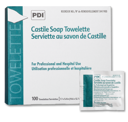 PDI Castile Soap Cleansing Towelettes