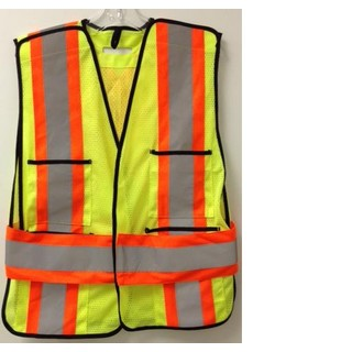 ROCKSTEADY Mesh Tear Away Hi Viz Safety Vest (Lime)