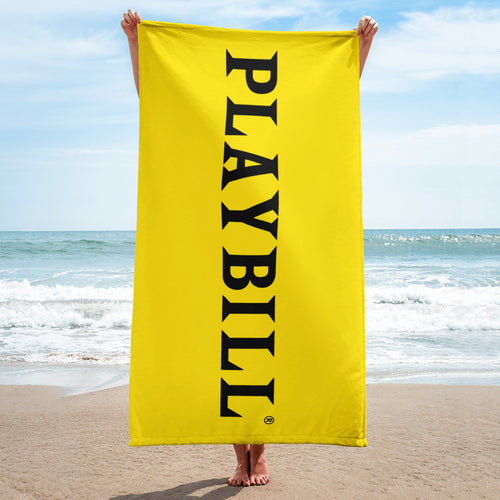 Playbill® Beach Towel - Playbill® Logo