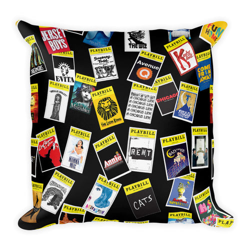 Playbill® Throw Pillow - Black