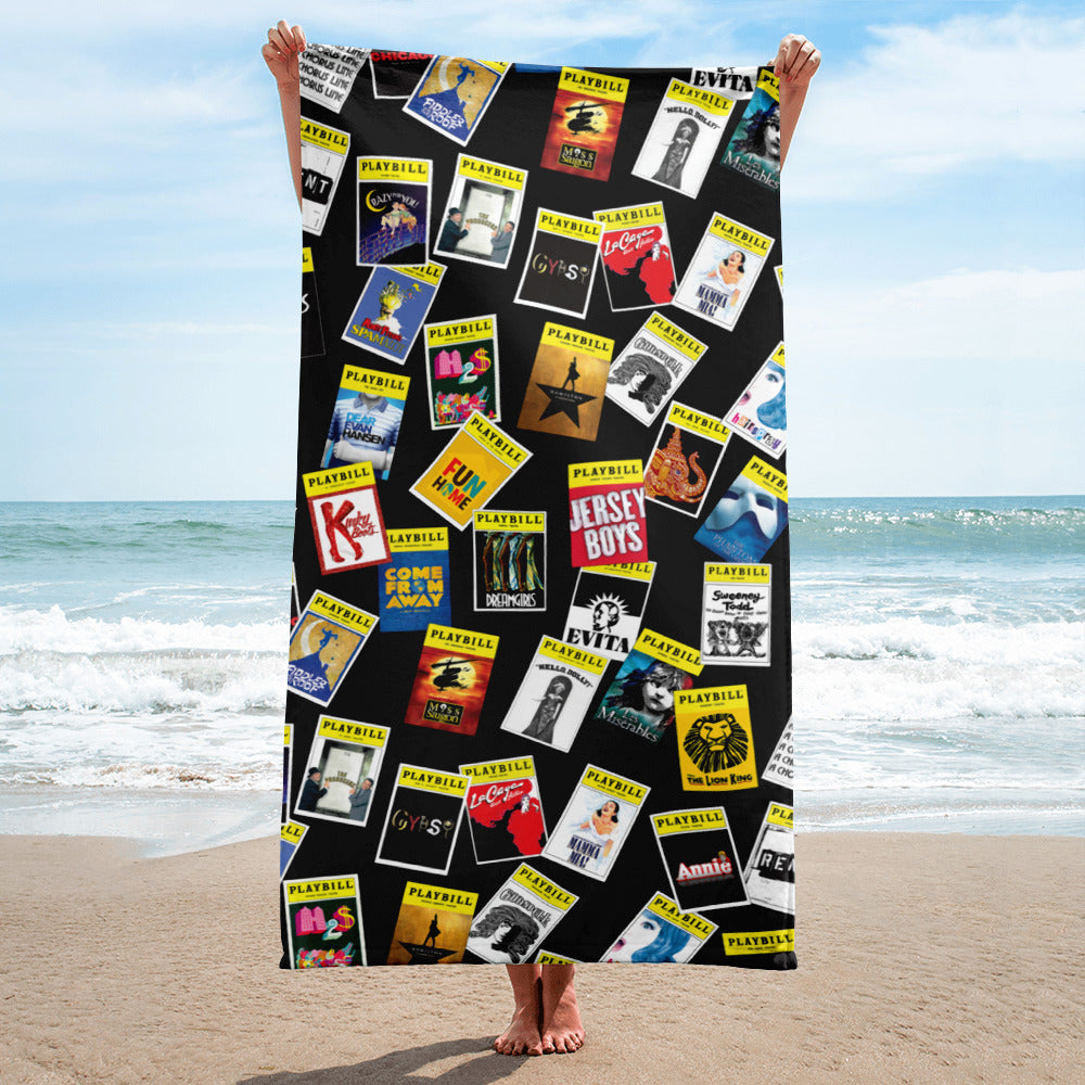 Playbill® Beach Towel - Dark Pattern