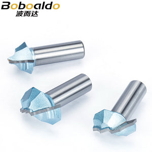 1/2 Shank 2 Flutes  Endmill Router Bits for Wood Tungsten Steel Cabinet Doors Knife Woodworking Tool Milling Cutter