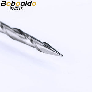 10pc/lot 3.175mm 2 Flute Spiral Pyramid engraving bits wood CNC router bit Carving knife Degree 30 for 2D 3D sculpture
