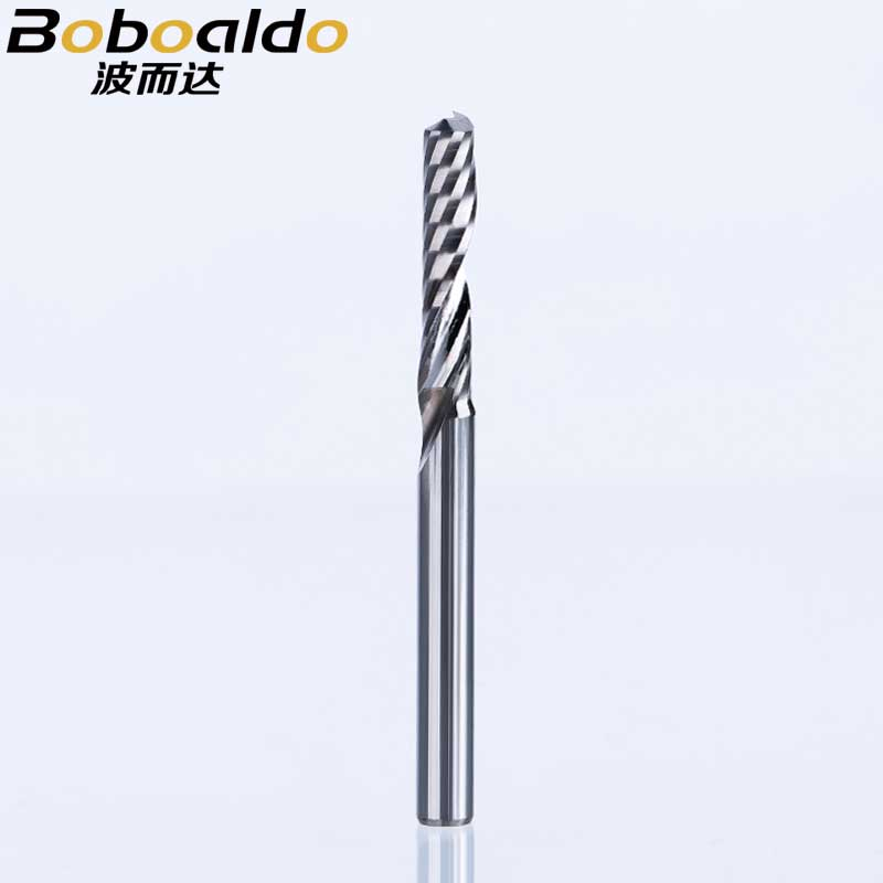 Solid Carbide One-Flute Spiral Router Bits Acrylic CNC Engraving Cutter 1.5mm