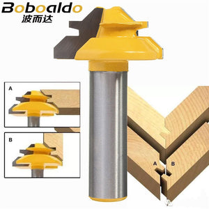1PC 8mm 1/4 Small Lock Miter Router Bit Anti-kickback 45 degree 1/2 inch Shank Milling Cutter for Woodworking Tools wood knife