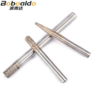1PC Stone Engraving bit Stone Machine Cutter CNC router bit for stone carving tool Electroplated diamond Router bit
