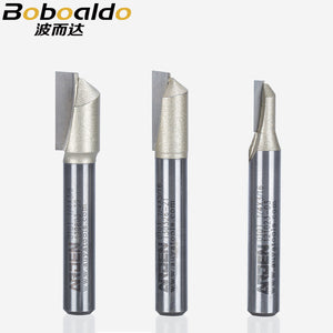 1PCS 1/4 1/2 Shank Single Flute Straight Cutter TC Trim Cutters Woodworking Tools Arden Router Bit