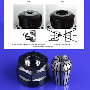 1PCS ER11 ER16 ER20 ER25 ER32 CNC Router Engraving 1Pcs ER20 Nuts ER High Precision Machine Nut ER Collet Accessory Sparepart