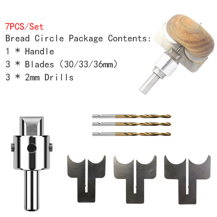 Bread Circle Drill Bit Carbide Blades handle Drill Woodworking Milling Cutter Bread Circle Molding Tool