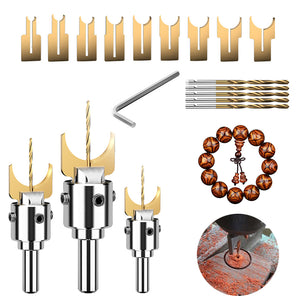 Beads Drill Bit Carbide Ball Blade Woodworking Milling Cutter Molding Tool Beads Router Bit Drills Bit Set