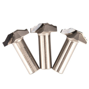 "1pc 1/2"" 1/4"" Shank PCD Cabinet Door Carving Router Bit  Diamond CVD Coating Edge Mould  Endmill Woodworking Cutter"