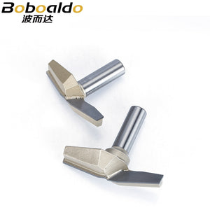 "1pc 1/2"" Shank CNC Bit Woodworking Tools Two Flute Router Bits For Wood Cutting Professional Grade Door Router Tool"