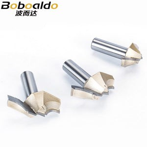 1pc 1/2 Shank Trimmer Router Bits For Wood Tungsten Carbide Woodworking Engraving Endmill Tools For Hard Wood MDF