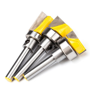 "1pc 1/2"" Shank Woodworking Router Bits Burrs Cutter Wood Imitation Milling Cutter CNC Cleaning Bottom Bit With Bearing"