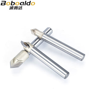 "1pc 1/4"" Shank V Type Slotting Cutter Professional Grade Router Bit For Wood V groove Tungsten Woodworking Carving Tool"