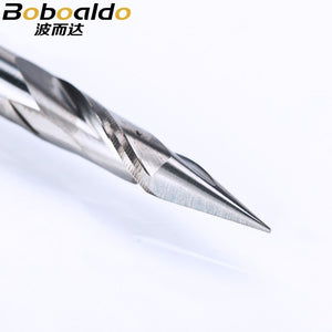 1pc 6mm 2 Flute Spiral Pyramid engraving bits for wood CNC router bit Carving knife Degree 30 for 2D 3D sculpture