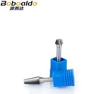 1pc 6mm Shk Tungsten Steel Cutter Metal Grinding Carving Rotary File Cylindrical Router Bit For Metal Polishing