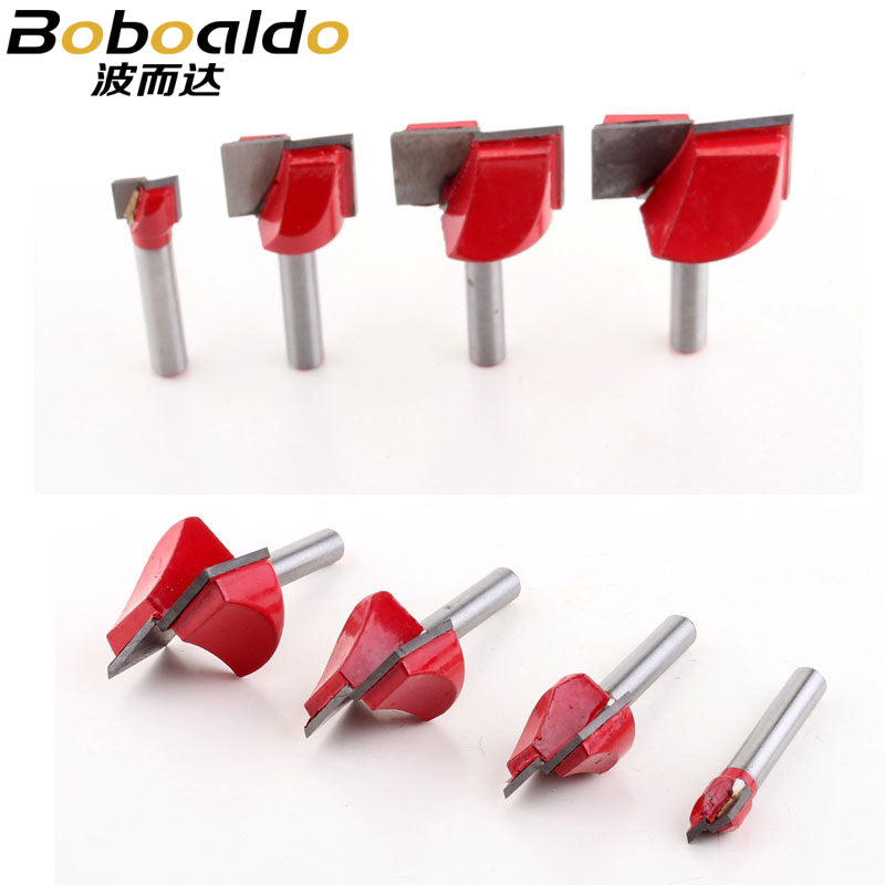 6mmx30mm CNC Bottom Cleaning Bit Milling Cutter Carving Woodworking Tool