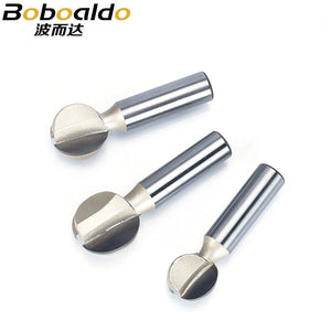 1pc Shank 1/2 1/4 Round Carving Bit Making Mould CNC Bits For Wood CNC Woodworking Round 3D Engraving Bits