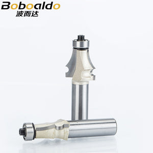 1pcs 1/2 1/4 Shank Drawing Line Router Bit for Wood With Bearing Woodworking Tools two Flute endmill milling cutter