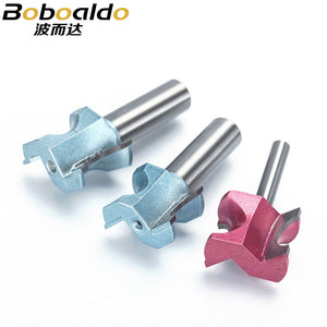 1pcs 1/2 1/4 Shk Half Round bit Industrial Grade endmills Router Bits for wood end mill Woodworking Tool milling cutter