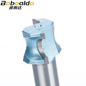 1pcs 1/2 1/4 Shk Half Round bit endmill Router Bits for wood end mill Woodworking Tool Industrial Grade milling cutter