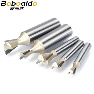 1pcs 1/2 1/4 Shk Wood Cutter Dovetail Bits 2 flute Router Bits for wood Tungsten Carbide Engraving Tool Milling Cutter
