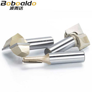 1pcs 1/2 Shank CNC Cleaning bottom router bit Woodworking Tools two Flute endmill router bits for wood cutting tools