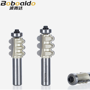 1pcs 1/2 Shank Triple Flute Bit TC Concave with Ball Bearing Woodworking Tools Arden Router Bit