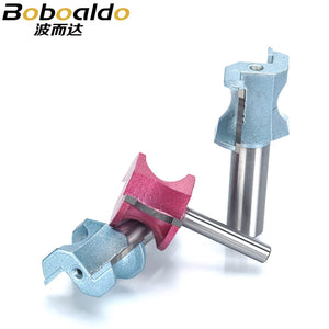 1pcs 1/21/4 Shk Half Round bit Industrial Grade endmills Router Bits for wood end mill Woodworking Tool milling cutter