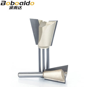1pcs 1/4 Shank Dovetail Bits 2 flute Router Bits for wood Tungsten Carbide Engraving Tool Milling Cutter Wood Cutter