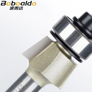 1pcs 1/4 Two flute 8-15deg Bevel Trim Cutter With Ball Bearing Arden Router Bit bevels great for edge working and cut clean