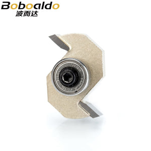 1pcs 1/4 inch Rabbeting Bit with Bearings woodworking tool T type bearings wood milling cutter router bits for wood