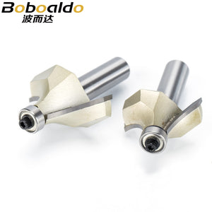 1pcs Round Over Router Bits for wood Woodworking Tool 2 flute endmill with bearing milling cutter Corner Round Over Bit