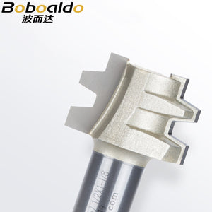 1pcs Two Flute Cutters Embouts Routeur Woodworking Tools 15 Deg Tenon Arden Router Bit Aper Reed Bits Milling Cutter
