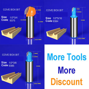 1pcs Wood Concave Radius Straight Trimmer Cleaning Flush Trim Corner Round Cove Box Bits Tools Milling Cutter