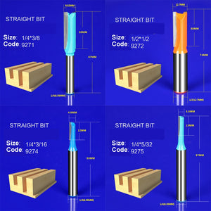 1pcs wood router bit Straight end mill trimmer cleaning flush trim corner round cove box bits tools milling cutter