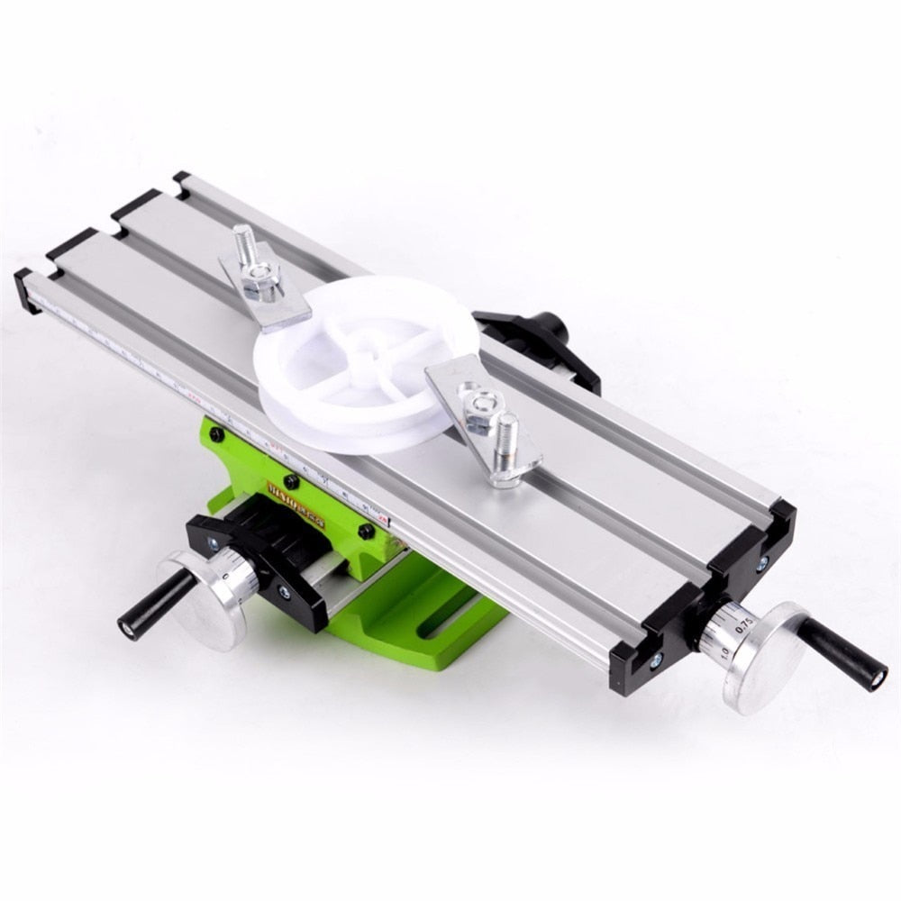 2 axis cnc multifunction mini working table bench vise bench woodworking  drill milling machine stent