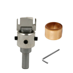 Finger Ring Drill Bit Wood Router Bit Carbide Blades handle Drill Woodworking Milling Cutter Ring Molding Tool DIY