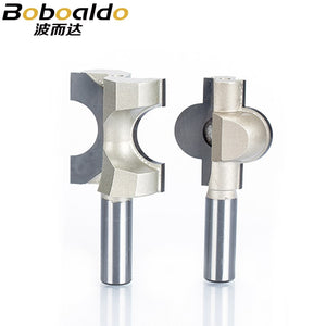 "2pc/set 1/2"" Shank Router Bits For Wood Woodworking Tool Semicircle Mortise Stitching Knife Floor T - mortis CNC Cutter"