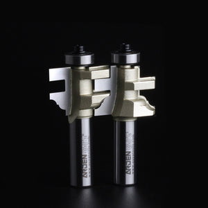 "2pc/set Drawer Pull Bits Woodworking Tool Style & Rail Assembles Arden Router Bit -1/2*1-I,1/2*1-II -1/2""Shank-Arden A1705018&28"