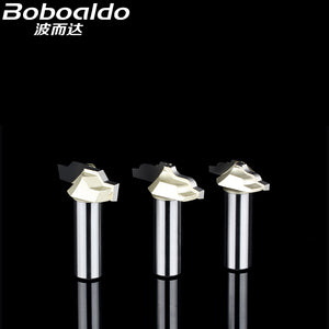 Boboalda 1PCS 1/2 Shank Wooden Lace Knife Engraving Machine Tool Milling Cutter Edge Moulding With Profile Arden Router Bit
