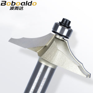 New 1pcs 1/2 Shank Two flute thumb mold cutter additional bead at edge Thumb Mould Cutter With Ball Bearing Arden Router Bit